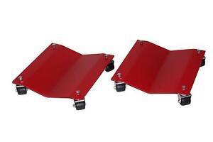 Auto Dolly M998102 Wheel Dollies Car Steel Red 1 500 Lbs Per Dolly Pair