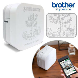 Hello Kitty Brother P touch Cube Label Printer Sanrio Bluetooth N 1802 643963 Fs