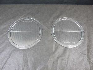 Vintage Glass Headlight Lens Pair Mckee Glass Twolite Headlamp 1930 S