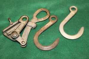 Vintage Crescent No 383 Cable Puller With Klein Hooks