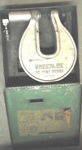 Greenlee Hydraulic Knockout Driver Set No 1731 Punch Used With Accessories