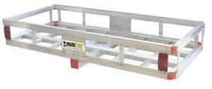 49 X 22 5 Cargo Carrier Hitch Mount Aluminum With High Side Rails