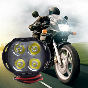 4led Motorcycle Front Headlight Spot Lights Scooter Head Lamp Led Dc12v Driving