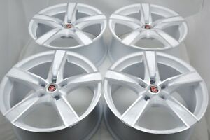 4 New Ddr T8 18x8 5x114 3 40mm White Polished 18 Wheels Rims