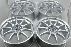 4 New Ddr Xfx 17x7 5 5x100 114 3 35mm Silver polished Lip 17 Wheels Rims