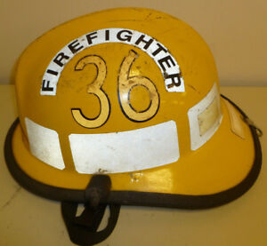 Firefighter Bunker Turn Out Fire Gear Cairns 660c Yellow Helmet H170