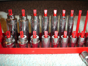 Mac Tools 20pc Partial Set 1 4 Drive 12pt Shallow Deep Sae Sockets