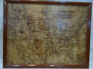 Hand Drawn North America And Asia Maps Antique 1872