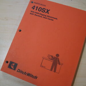 Ditch Witch 410sx Trencher Ditcher Plow Parts Manual Book Catalog List H400 A221