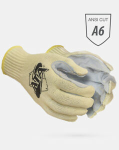 Worldwide Protective Mata30 bh Cut Resistant Gloves Leather Palm Ata Cut 6 1dz