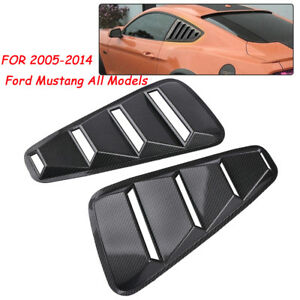 For 2005 14 Ford Mustang 1 4 Quarter Side Window Louvers Scoop Cover Vent