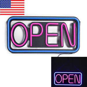 Shop Open Sign Outdoor Led Hang Business Square Waterproof Illumination Neon Us