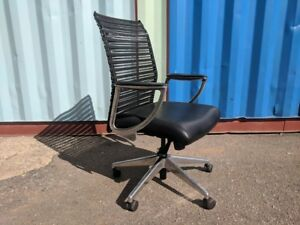 Allseating Zip Leather Conference Chair With Arms