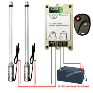 2 Dual 18 Linear Actuator Dc12v Motor W Remote Control For Auto Lifting System