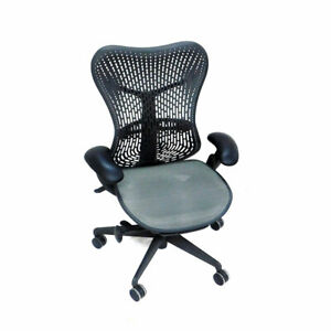 Herman Miller Mr123aam Mirra 2 Black Butterfly Back Office Chair lumbar Support