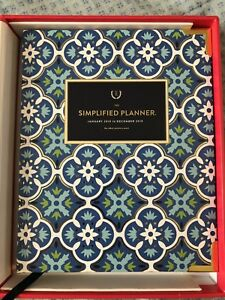 Emily Ley 2019 Blue Tile Weekly Planner With Stretchy Bands