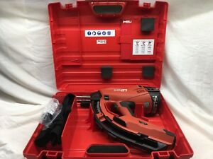 Hilti Gx 3 Gas Actuated Fastening Tool Nail Gun W Case Good Condition