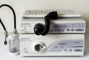 Olympus Cv 160 Video Processor Clv 160 Light Source With Pig Tail Keyboard