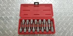 Mac Tools Sxab15b 15 pc 3 8 Drive Sae And Metric Speed Hex Bit Set