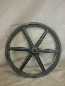 Great Vintage 13 1 2 Single Groove Farm barn utility machinery Pulley