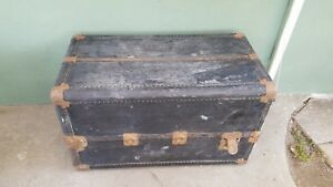 Vintage Antique Wardrobe Hartman Steamer Trunk With Drawers Train Car Baggage
