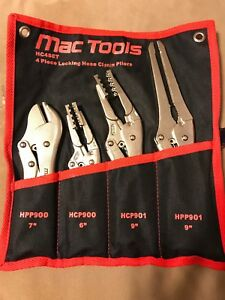 Mac Tools Hc4set 4 Piece Locking Hose Clamp Pliers