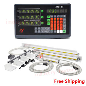 3 Axis Digital Readout Dro For Cnc Milling Machine Linear Scale With Accessories