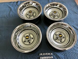 1971 87 Chevy Gmc Truck 5 On 5 15x10 15x8 Gm Original Truck Rallys Set Of 4