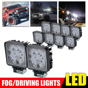 10x 27w Spot Led Work Light Bar Offroad Boat Truck Tractor Pickup Suv Atv Lamp