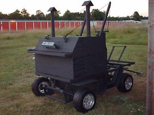Barbecue Pit Trailer Custom Made Heavy Duty Made In 1978 40 Years Old