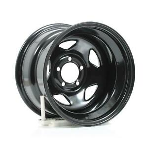 Cragar Black Steel V 5 Wheels 15 X10 5x4 5 Bc Set Of 4