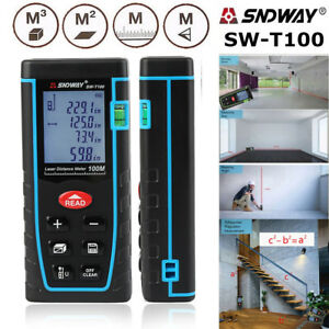 Sndway Sw t100 Hand held Laser Distance Meter Measuring Range 100m 328ft Usa