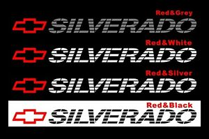 Chevy Silverado Bed Window Decal Stickers Chevrolet 1500 Tailgate Lettering