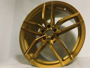 Four 19 Staggered Dark Gold V Style Rims Wheels Fits Honda Accord Coupe Sedan
