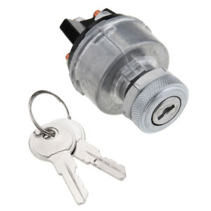 Universal Car Auto Ignition Starter Switch Barrel Cylinder Steering With 2 Keys