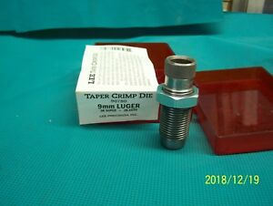 Lee 9mm Luger .380 Auto 38 Super Taper Crimp Die #455 #284