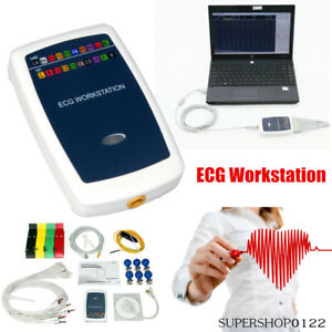 Ecg Workstation System portable Handheld 12 lead Resting Recorder Pc Software