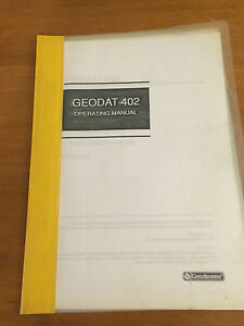 Geodimeter Geodat 402 Operating Manual Surveyor