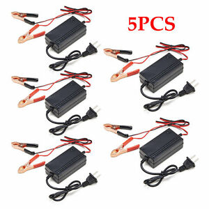 5pcs 12v Battery Charger Tender Motorcycle Car Atv Boat Multimode Maintainer