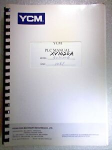 Ycm Xv1020a Cnc Mill Machine Center Plc Manual Fanuc Mxp100i Mxp200i 18imb