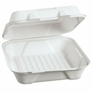 Genpak Harvest Fiber Hinged Containers 9 X 9 X 3 200 Containers gnphf200