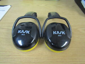 Snr 26 To 30 Db Sc2 Hearing Protection Yellow By Kask Yellow Ear Muff Set
