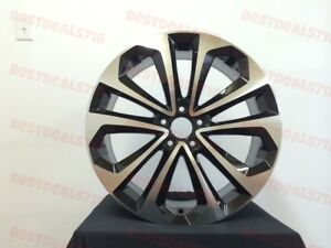 18 Accord Hfp Sport Style Rims New Model Black Machine Face Wheels Fits Honda