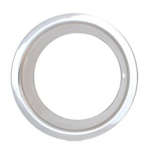 Nwb 15 Stainless Steel Wheel Trim Rings Rally 3 Lip Set Of 4 For 15x8 15x10