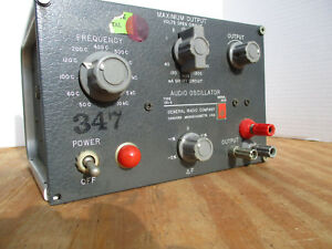 Audio Sine Wave Oscillator General Radio Company Model 1311 a