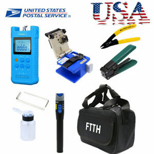 Ftth Fiber Optic Splicing Splice Fiber Cleaver Fc 6s Stripper Tool Kit Set 48hrs