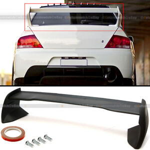 Fit 2002 07 Mitsubishi Lancer Evo 7 8 9 Flat Matte Black Rear Trunk Spoiler Wing
