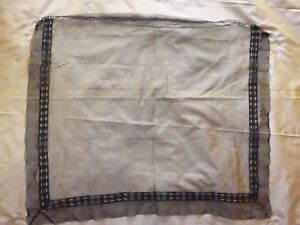 Fine Antique Victorian Mourning Veil 25 By 22