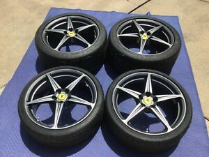Ferrari 458 20 Oem Sport Wheel Set Forged In Matte Grey