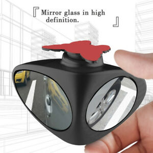 New 1x Car Blind Spot Mirror Wide Angle 360 Rotation Adjustable Convex Rear View